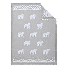 Buy John Lewis Baby Polar Bear Blanket, Grey Online at johnlewis.com