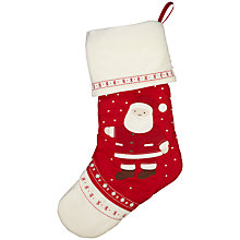 Buy John Lewis Baby Santa Stocking, Red Online at johnlewis.com