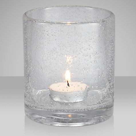 Buy John Lewis Bubble Glass Tealight, Large Online at johnlewis.com