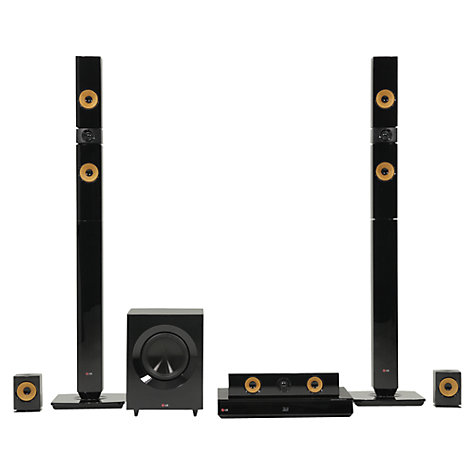 Buy LG BH7430P 5.1 3D Blu-ray/DVD 4K Smart Home Cinema System, Black/Yellow Online at johnlewis.com