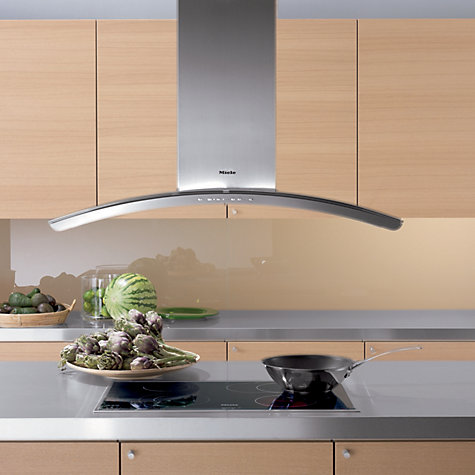 Buy Miele DA5100D Chimney Cooker Hood, Stainless Steel/Glass Online at johnlewis.com