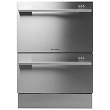 Buy Fisher & Paykel DD60SDFHX7 Built-in Double DishDrawer Dishwasher, Stainless Steel Online at johnlewis.com