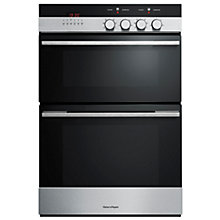 Buy Fisher & Paykel OB60B77CEX3 Double Electric Oven, Brushed Stainless Steel and Black Glass Online at johnlewis.com
