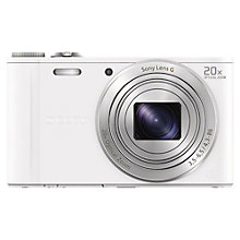 "Buy Sony Cyber-shot DSC WX300 Camera, HD 1080p, 18.2MP, 20x Optical Zoom, Wi-Fi, 3"" Screen with 16GB + 8GB Memory Card Online at johnlewis.com"