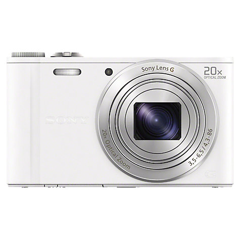 "Buy Sony Cyber-shot DSC WX300 Camera, HD 1080p, 18.2MP, 20x Optical Zoom, Wi-Fi, 3"" Screen Online at johnlewis.com"
