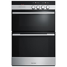 Buy Fisher & Paykel OB60BCEX4 Double Electric Oven, Brushed Stainless Steel and Black Glass Online at johnlewis.com