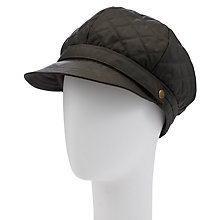 Buy John Lewis Quilted Baker Boy Rain Hat, Olive Online at johnlewis.com