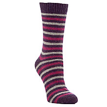 Buy John Lewis Wool Mix Striped Ankle Socks Online at johnlewis.com