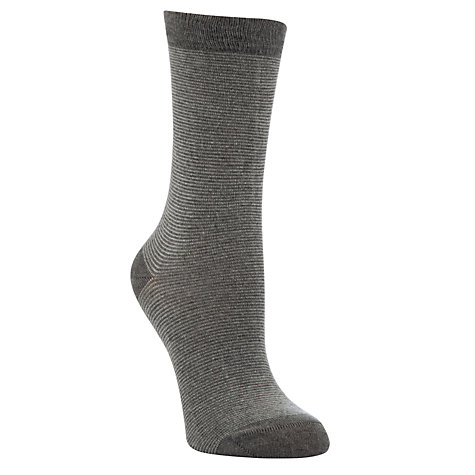 Buy John Lewis Viscose Striped Ankle Socks Online at johnlewis.com