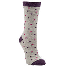 Buy John Lewis Spot Print Ankle Socks Online at johnlewis.com