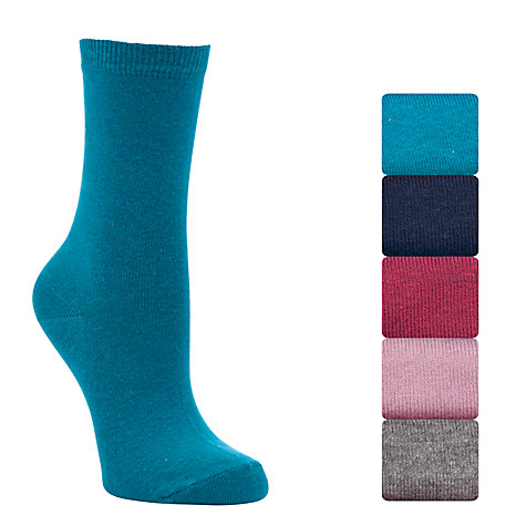 Buy John Lewis Cotton Rich Socks, Pack Of 5, Multi Online at johnlewis.com