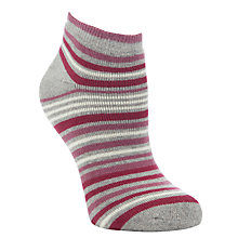 Buy John Lewis Stripe and Spots Terry Trainer Liners, Pack of 3, Grey/Pink Online at johnlewis.com