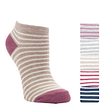 Buy John Lewis Striped Trainer Socks, Pack Of 5, Multi Online at johnlewis.com