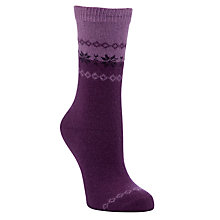 Buy John Lewis Angora Snowflake Print Ankle Length Socks Online at johnlewis.com