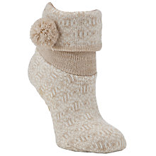 Buy John Lewis Bootie Slipper Socks, Natural Online at johnlewis.com
