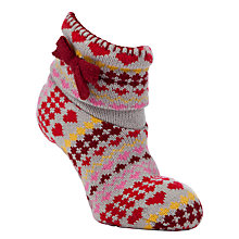 Buy John Lewis Bootie Slipper Socks, Red Online at johnlewis.com