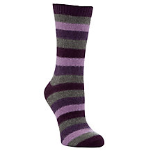 Buy John Lewis Cashmere Striped Ankle Socks Online at johnlewis.com