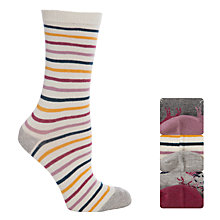 Buy John Lewis Cotton Reindeer Ankle Socks, Pack of 3, Grey Online at johnlewis.com