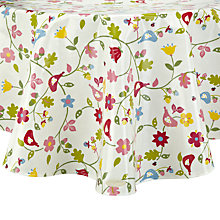 Buy Oily Rag Songbird Round Tablecloth, Dia.130cm Online at johnlewis.com