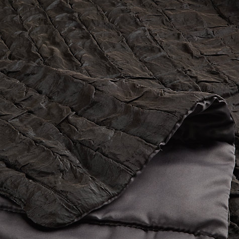 Buy John Lewis Shimmer Bedspread, Steel Online at johnlewis.com