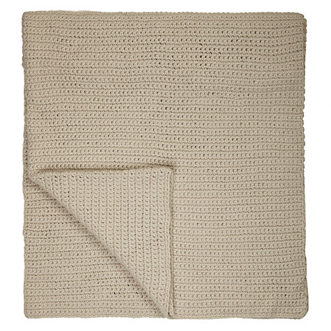 Buy John Lewis Flynn Ribbed Knit Throw Online at johnlewis.com