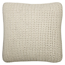 Buy John Lewis Flynn Ribbed Knit Cushion Online at johnlewis.com