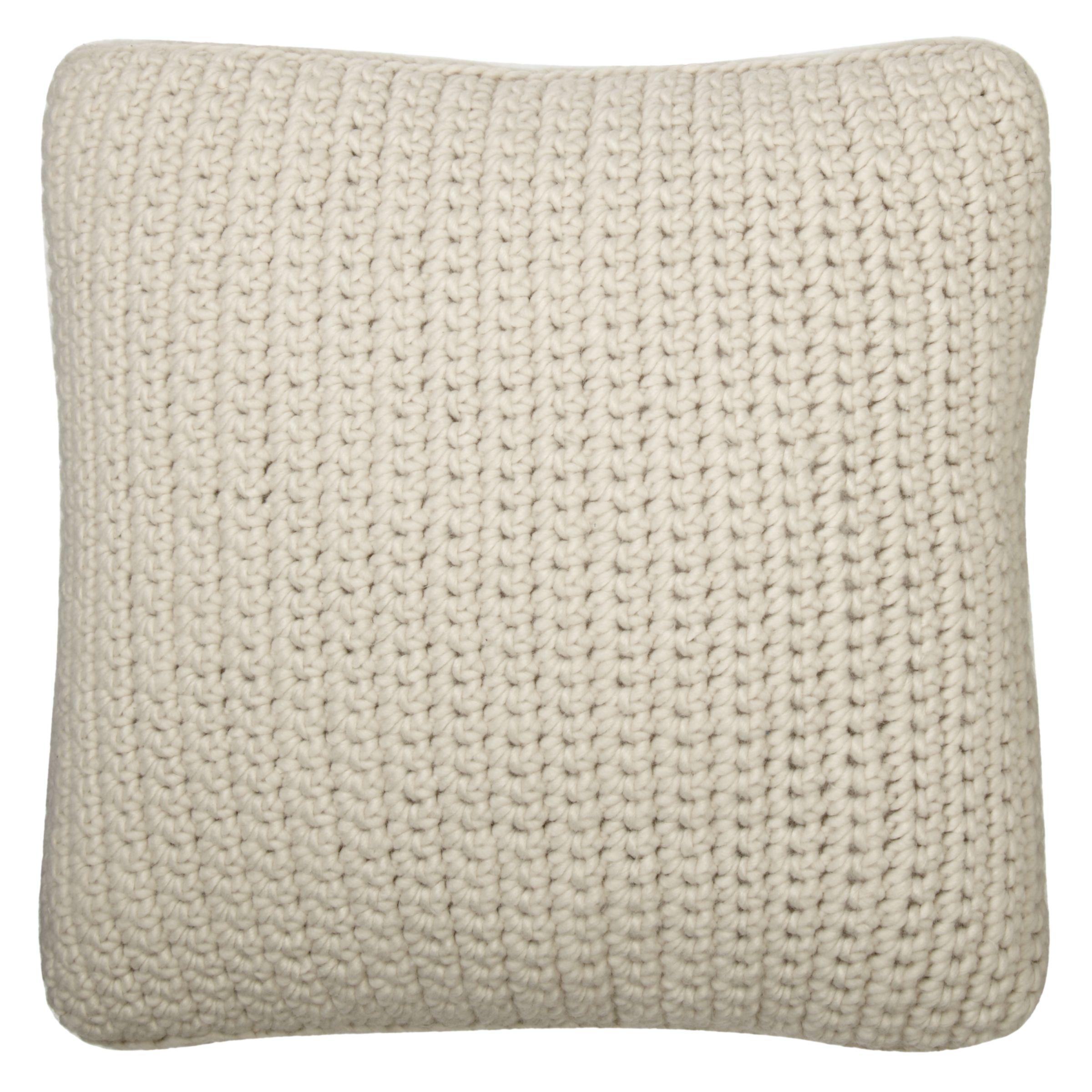 Buy John Lewis Croft Collection Flynn Ribbed Knit Cushion John Lewis