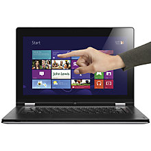 "Buy Lenovo Yoga Ultrabook, Convertible, Intel Core i7, 2.0GHz, 8GB RAM, 128SSD, Wi-Fi, 13.3"" Touch Screen, Silver Online at johnlewis.com"