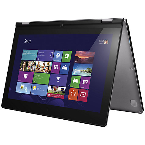 "Buy Lenovo IdeaPad Yoga Convertible Ultrabook, Intel Core i7, 8GB RAM, 128GB SSD, 13.3"" Touch Screen, Silver Online at johnlewis.com"