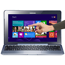 "Buy Samsung ATIV Tab Convertible Tablet Laptop, Intel Atom, 2GB RAM, 64GB SSD, 11.6"" Touch Screen, Windows 8, HSPA+, Silver Blue Online at johnlewis.com"