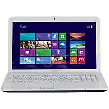 "Buy Toshiba Satellite C855-2L6 Laptop, Intel Pentium B960, 2.2GHz, 6GB RAM, 1TB, 15.6"", White Online at johnlewis.com"