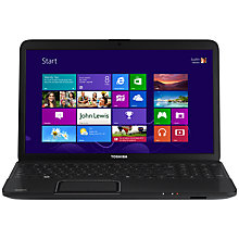 "Buy Toshiba Satelite C850-1G5 Laptop, Intel Celeron 1000M, 1.8 GHz, 6GB RAM, 500GB, 15.6"", Black Online at johnlewis.com"
