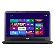 "Buy Dell Inspiron 15-3521 Laptop, Intel Core i3, 1.9GHz, 4GB RAM, 500GB, 15.6"" Touch Screen, Black Online at johnlewis.com"