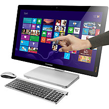 "Buy Lenovo IdeaCentre A720 All-in-One Desktop PC, Intel Core i5, 6GB RAM, 1TB, 27"" Touch Screen, Silver + Microsoft Office 365 Personal Online at johnlewis.com"