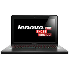 "Buy Lenovo Ideapad Y500 Laptop, Intel Core i7, 2.4GHz, 8GB RAM, 1TB, 15.6"", Black Online at johnlewis.com"