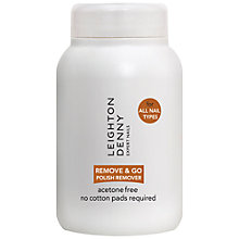 Buy Leighton Denny Remove & Go Nail Polish Remover, 60ml Online at johnlewis.com