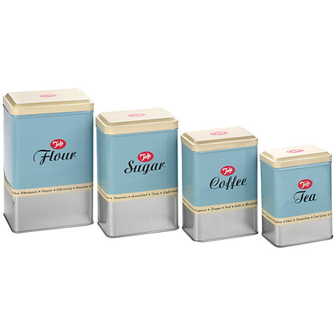 Buy Tala Kitchen Storage Tins, Blue/Silver, Set of 4 Online at johnlewis.com