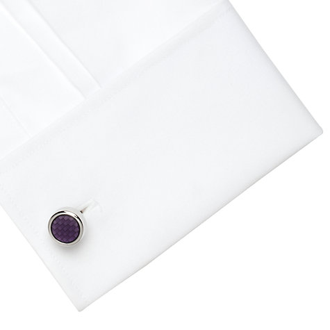 Buy Denison Boston Polo Check Round Cufflinks, Pink Online at johnlewis.com
