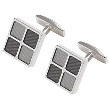 Buy Hugo Boss Benjamo Square Cufflinks, Silver Online at johnlewis.com