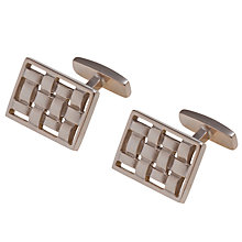 Buy Hugo Boss Isetto Woven Cufflinks, Gold Steel Online at johnlewis.com