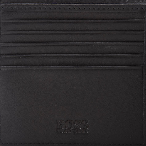 Buy Hugo Boss Woven Classic Billfold Wallet, Black Online at johnlewis.com
