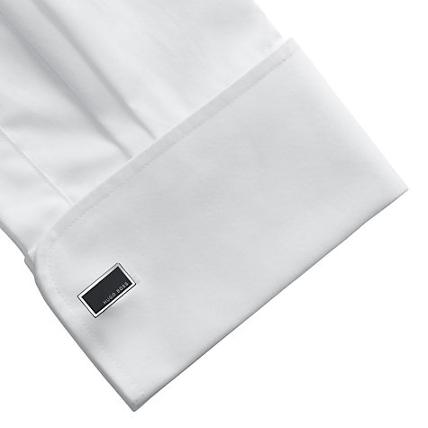 Buy BOSS Camilo Rectangular Cufflinks, Black Online at johnlewis.com