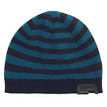 Buy Diesel Grof Stripe Beanie Hat, Navy/Blue Online at johnlewis.com