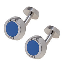 Buy Hugo Boss Simony Enamel Rounded Cufflinks Online at johnlewis.com