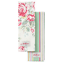 Buy Cath Kidston Hampstead Rose and Kew Stripe Tea Towels, Set of 2 Online at johnlewis.com