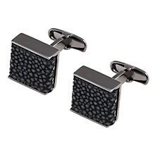 Buy Denison Boston Luxe Stingray Square Cufflinks Online at johnlewis.com