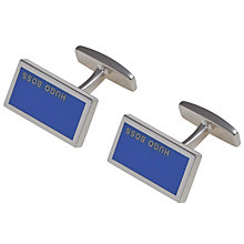 Buy Hugo Boss Camilo Rectangular Cufflinks, Blue Online at johnlewis.com