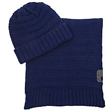 Buy Diesel Beanie and Scarf Box Set, One Size, Navy Online at johnlewis.com