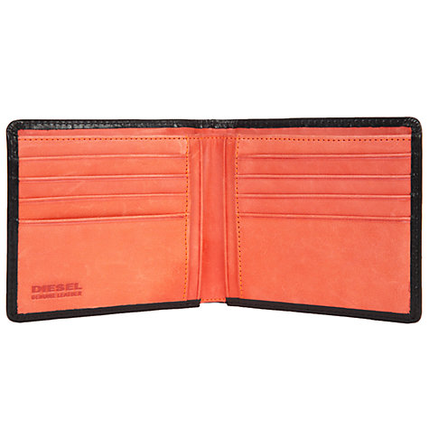 Buy Diesel Neela Leather Wallet, Black/Orange Online at johnlewis.com