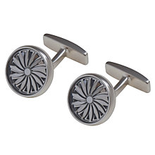 Buy Hugo Boss Turbino Round Cufflinks, Silver Online at johnlewis.com